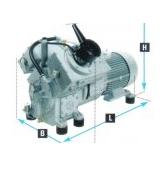Compresor rãcit cu apa de medie si inalta presiune pana la 350 bar